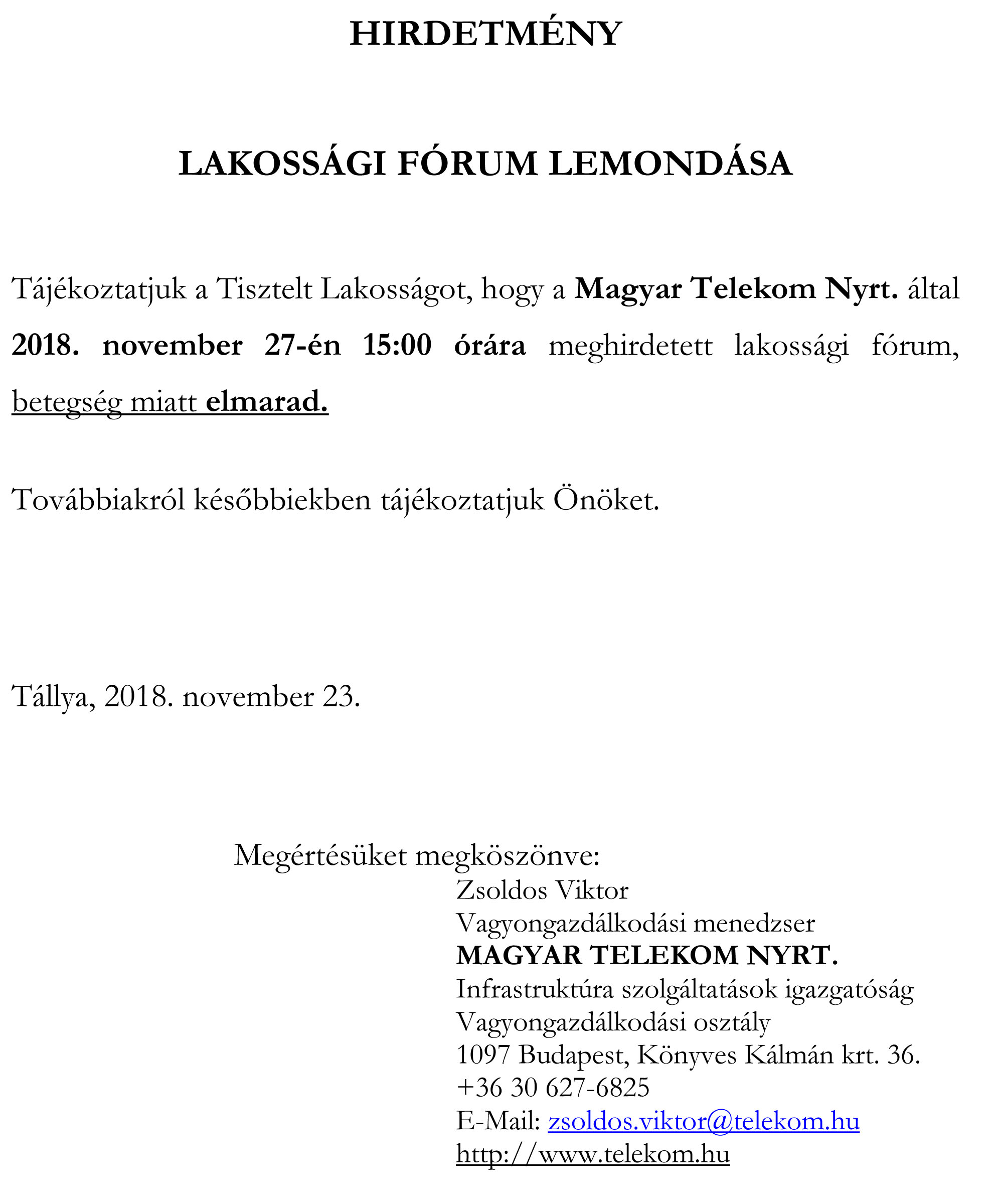 tallya lakossagi forum1